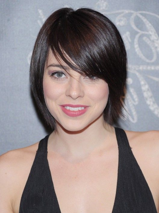 Hairstyle Medium Haircut With Short Side Swept Bangs 2017