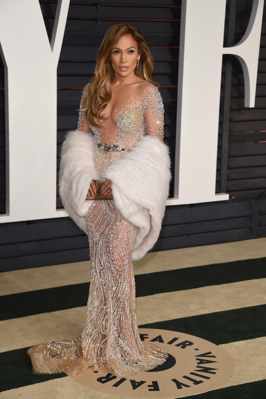 9752044bc6 Jennifer Lopez at the VF Oscar party. Dress by Zuhair Murad
