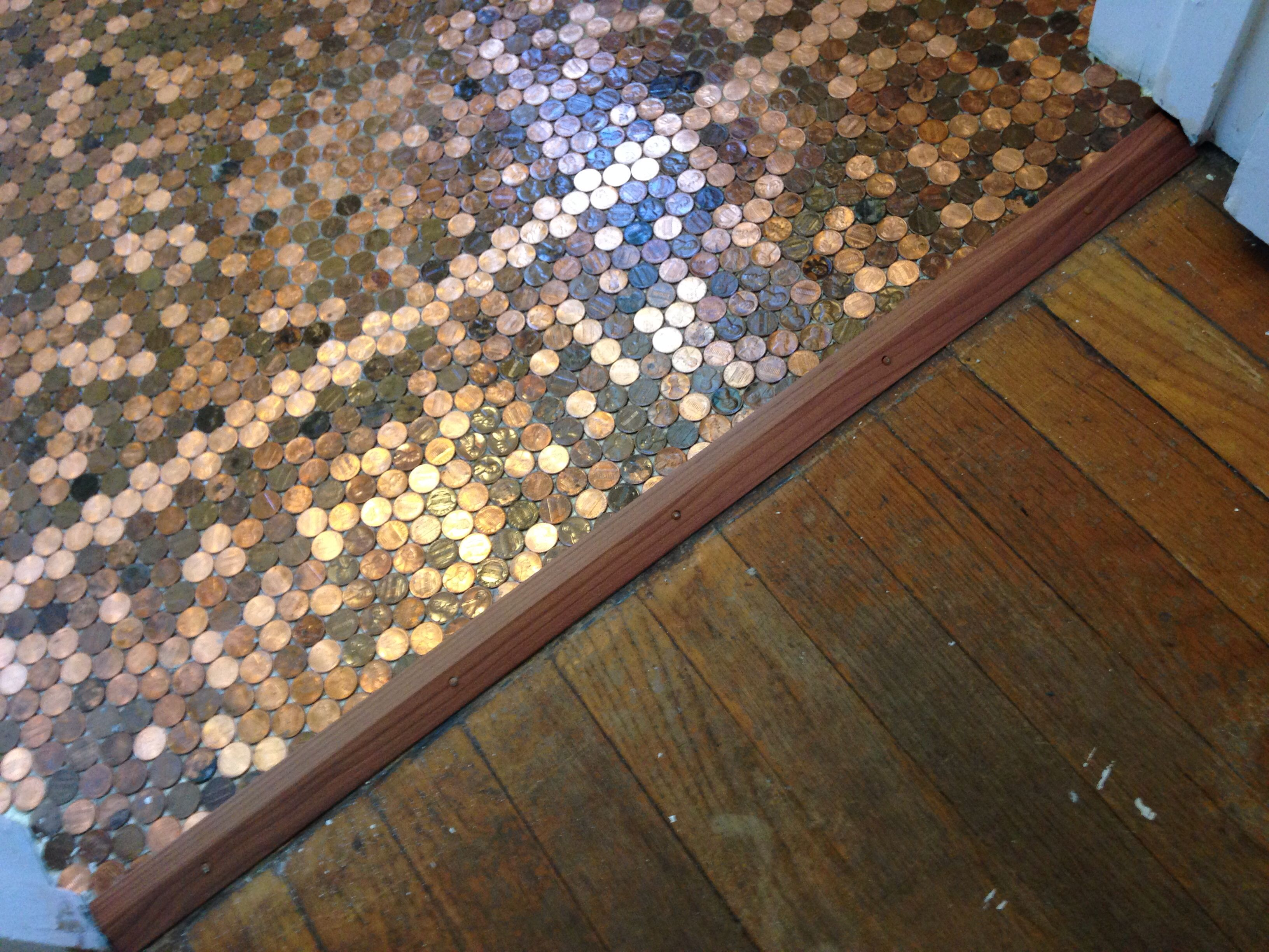 Penny Tile Step By Step How To On Pinterest Pennies
