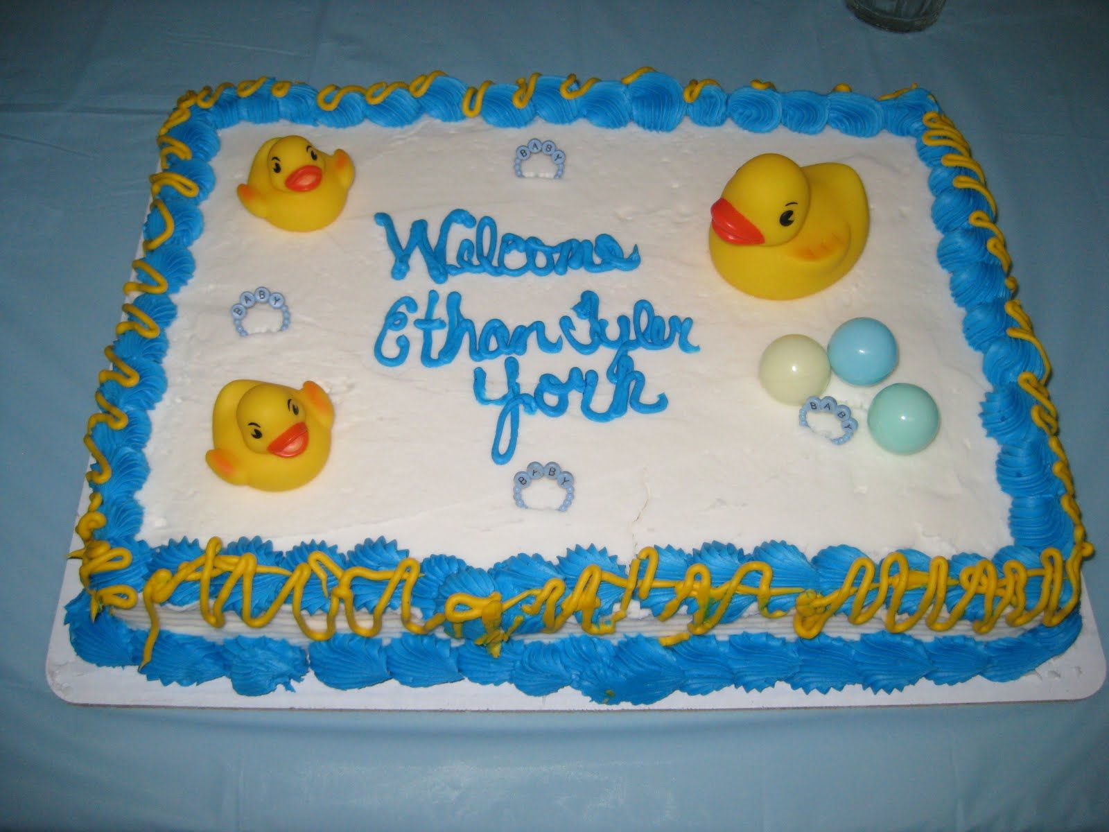 Walmart Cakes For Baby Showers | The Rubber Ducky Cake From Walmart I Loved  Everything