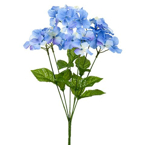 Bulk 6 Stem Floral Garden Artificial Blue Hydrangea Bushes 17 In At Dollartree Com Dollar Tree Flowers Hydrangea Bush Blue Hydrangea