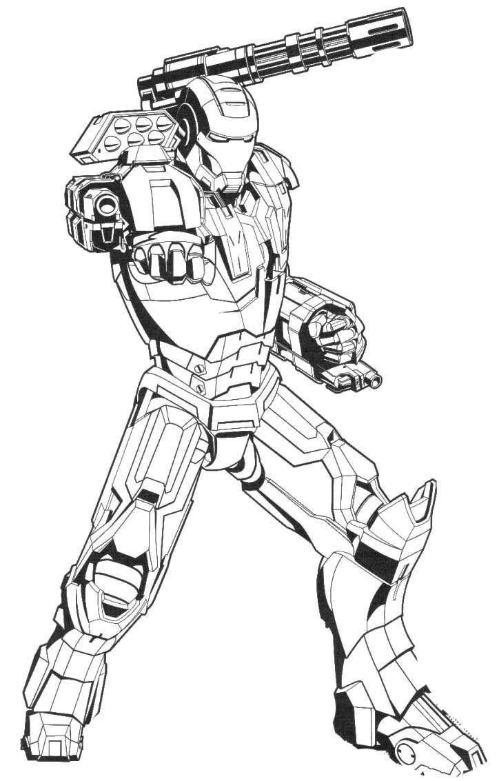 Powerful Iron Man Coloring Page