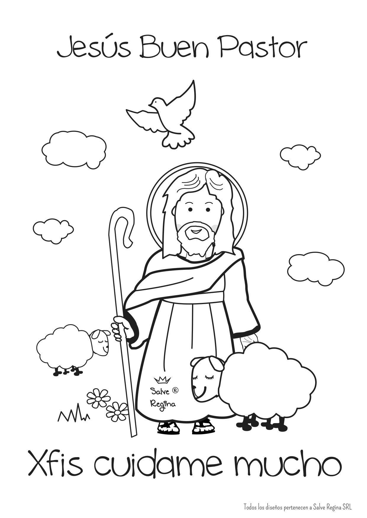 El Buen Pastos Jesus Buen Pastor Iglesia Ninos Dibujos