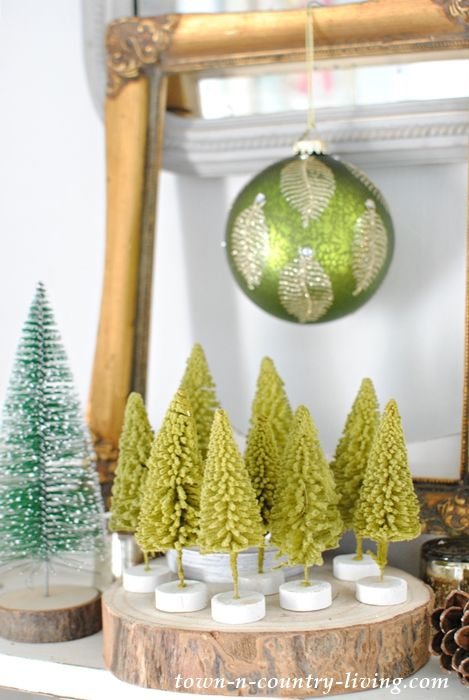 Bottle Brush Trees Creative Ways To Display Town Country Living Bottle Brush Christmas Trees Bottle Brush Trees Christmas Diy Wood