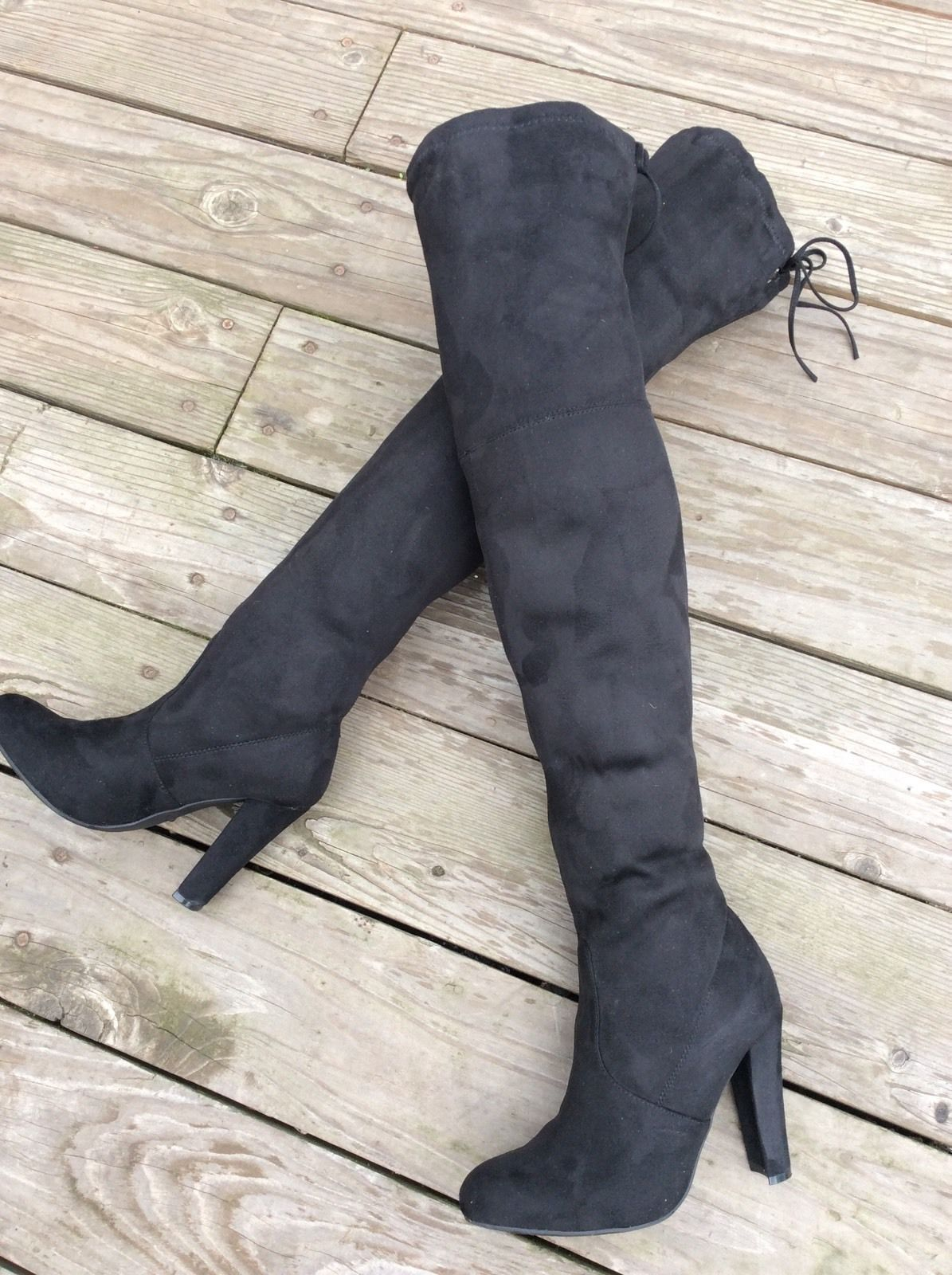 960b81b5458  150 Steve Madden Gorgeous Black Synthetic Over The Knee Boots Size 7 M   knee  boots  size  over  synthetic  madden  gorgeous  black  steve