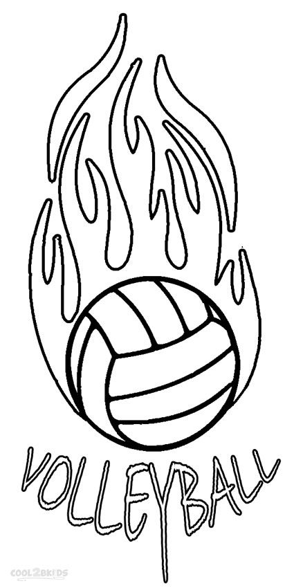 Volleyball Coloring Page Coloring Pages Color Cartoon Volleyball
