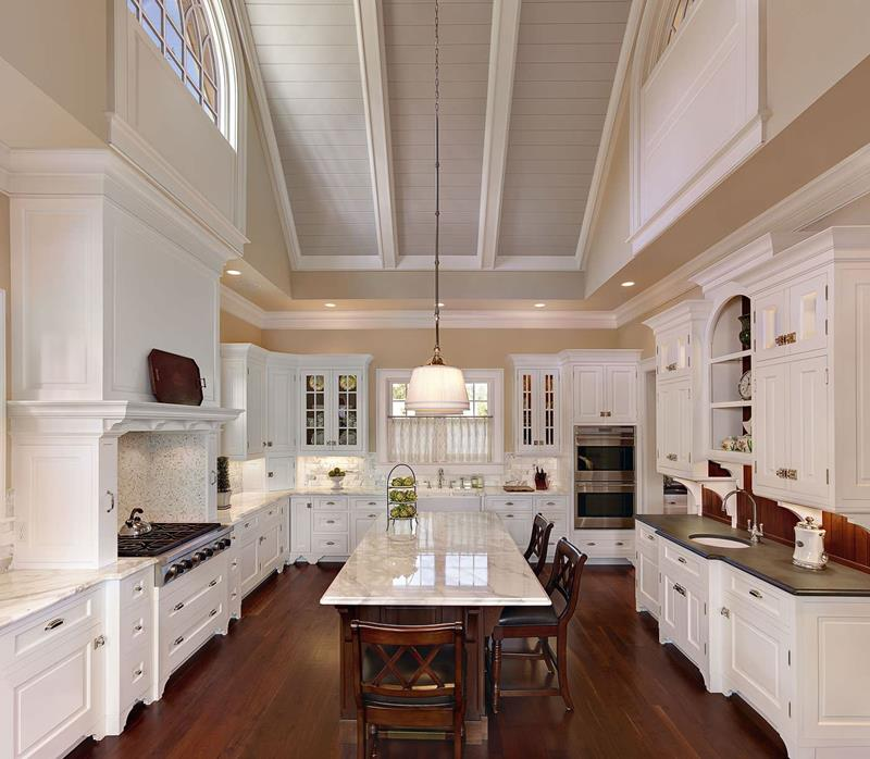 35+ Kitchens with Vaulted Ceilings (Photo Gallery) #vaultedceilingdecor