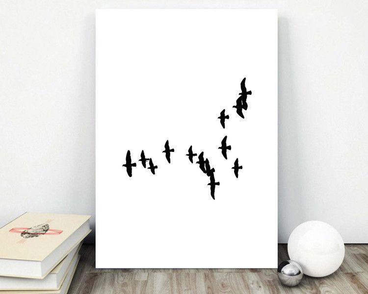 Bird Poster Minimalist Print Wall Decor S038