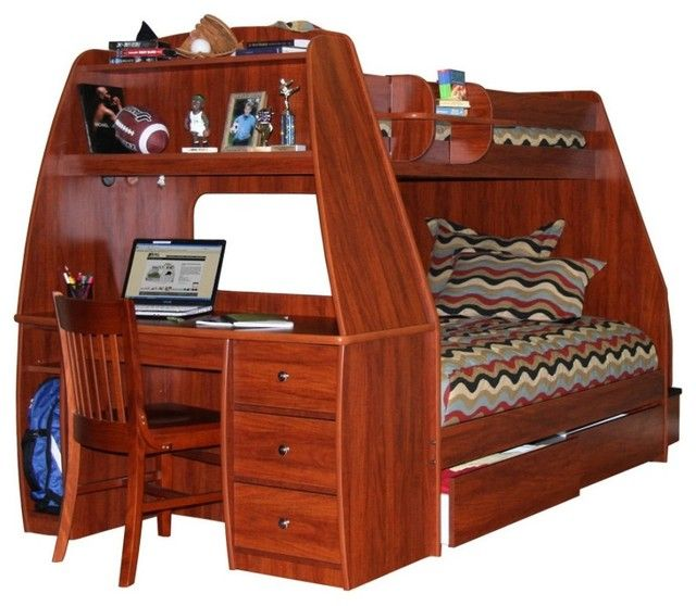 Best Wood Loft Beds With Desks Underneath Wooden Daybed 400 x 300