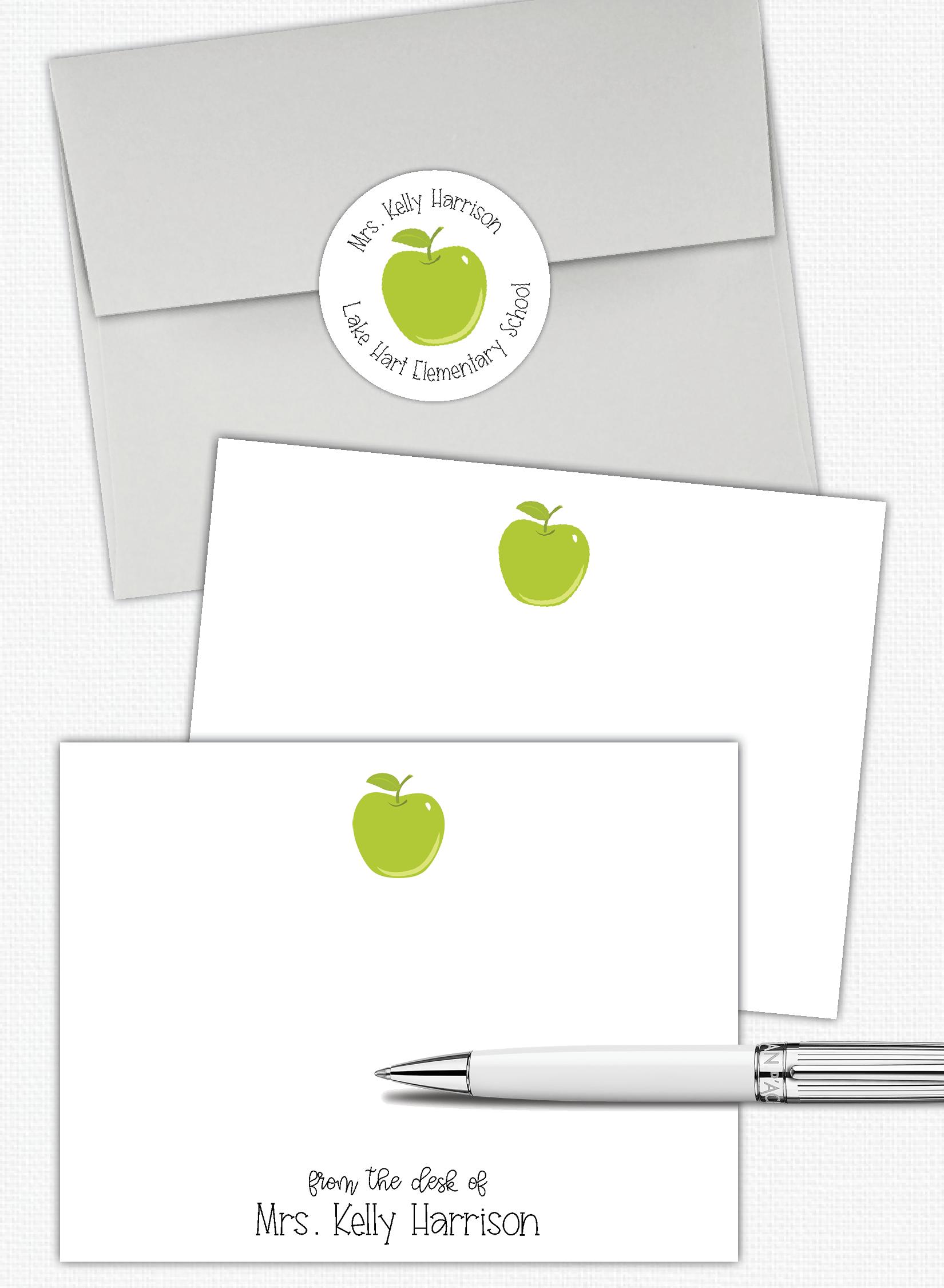 personalized teacher stationery set