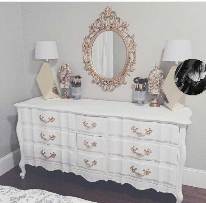 White Bedroom Dresser Mirror Diy Dressers Blush Decor Rose