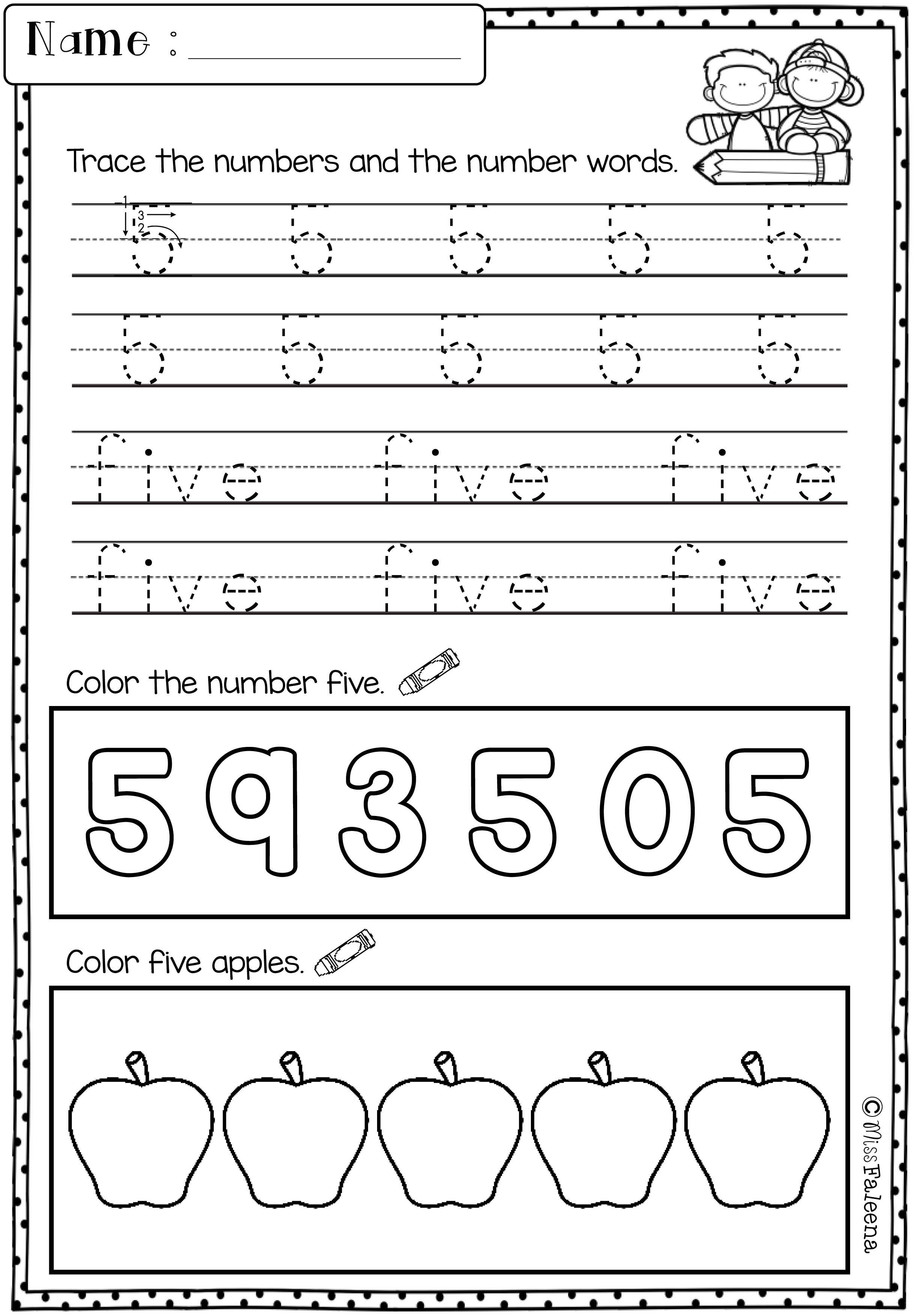 Free Morning Work For Kindergarten - Kindergarten [ 3508 x 2452 Pixel ]