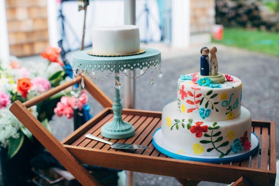Southhampton DIY backyard wedding hamptons long island out east do it yourself summer flamingo Montauk
