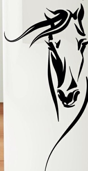 simple tribal horse tattoo designs. Black Bedroom Furniture Sets. Home Design Ideas