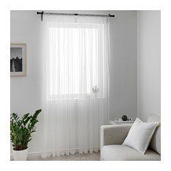 voilage 2 pi ces hildrun blanc pois voilage blanc. Black Bedroom Furniture Sets. Home Design Ideas