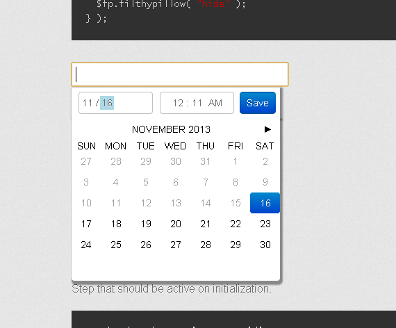 a fancy and small calendar and date-time picker - aef