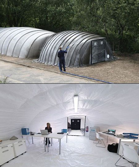 Concrete tent hardens when you add water is perfect from for Guide autoconstruction