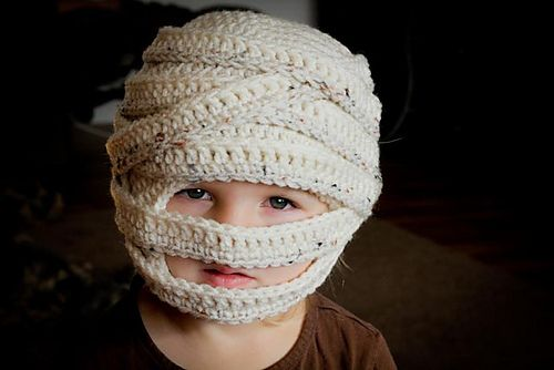 Mummy Halloween Hat (Sizes 6 mo to Lg. Adult) pattern by Mamachee ...