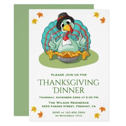 cute funny turkey thanksgiving dinner party invite thanksgiving invitations holiday cyo diy happy thanksgiving invitation