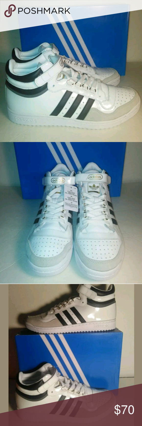 size 40 42dbd 786ac Adidas Concord II Mid Casual Shoes Men Size 8 Adidas Concord II Mid Casual  Shoes WhiteBlackGold BB8778 Men Size 8 adidas Shoes Sneakers