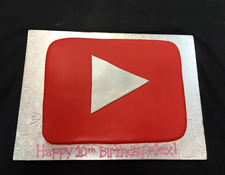 Phenomenal Youtube Play Button Birthday Cake With Pink And Silver Accents Personalised Birthday Cards Paralily Jamesorg