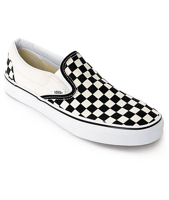 Vans Slip On Black White Checkered Skate Shoes With Images