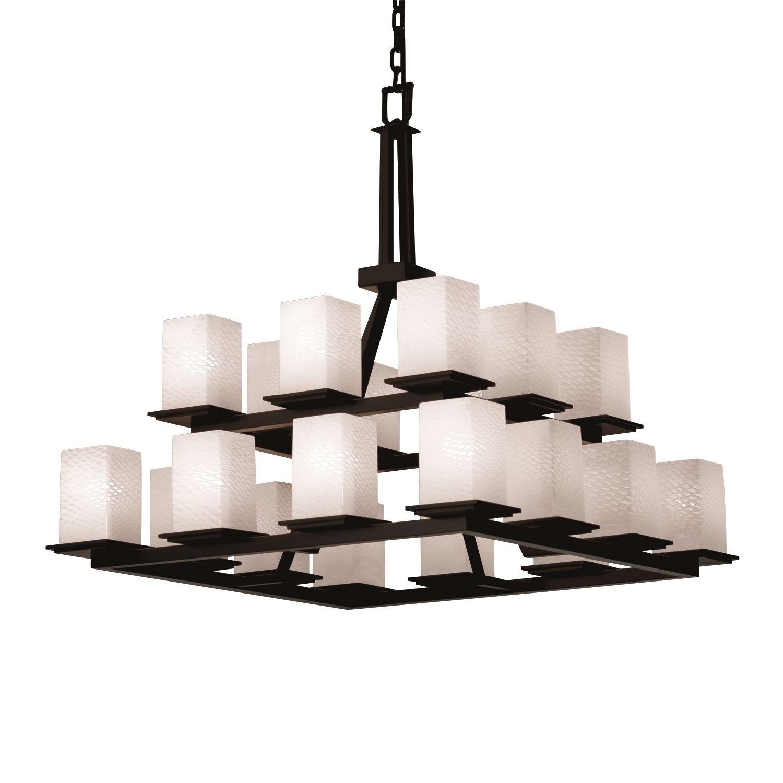 Justice design group fusion montana light chandelier matte black