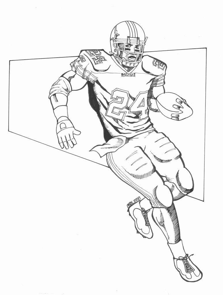 nfl football player drawings redskins sports football