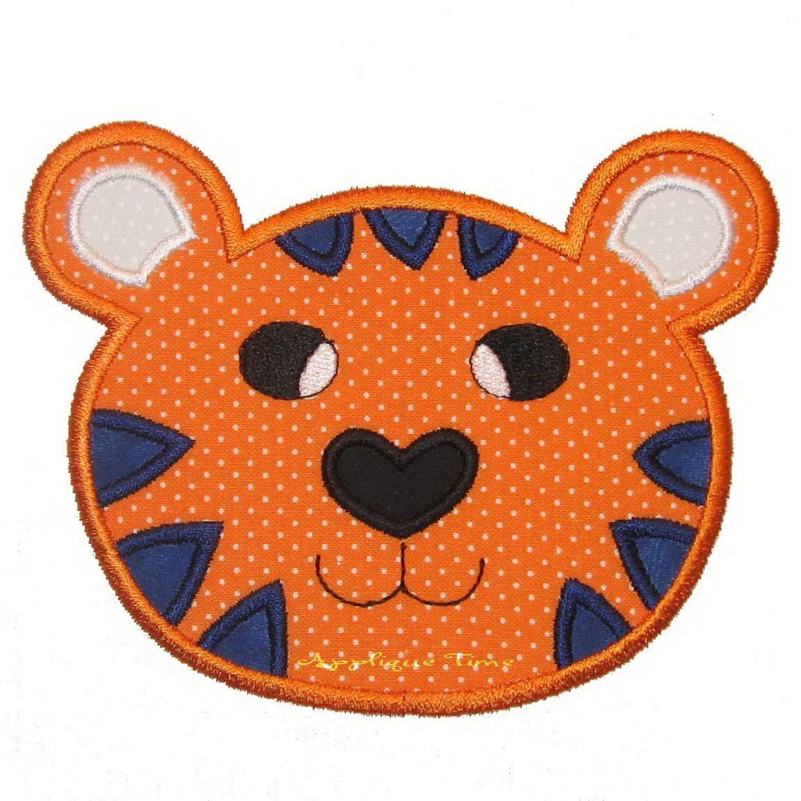 Instant Download Tiger Machine Embroidery Applique Design