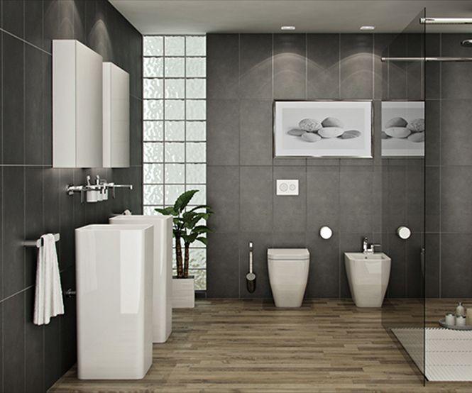 Mooie Moderne Badkamers : Deze vloer mag er ook zijn vooral in combinatie met deze mooie