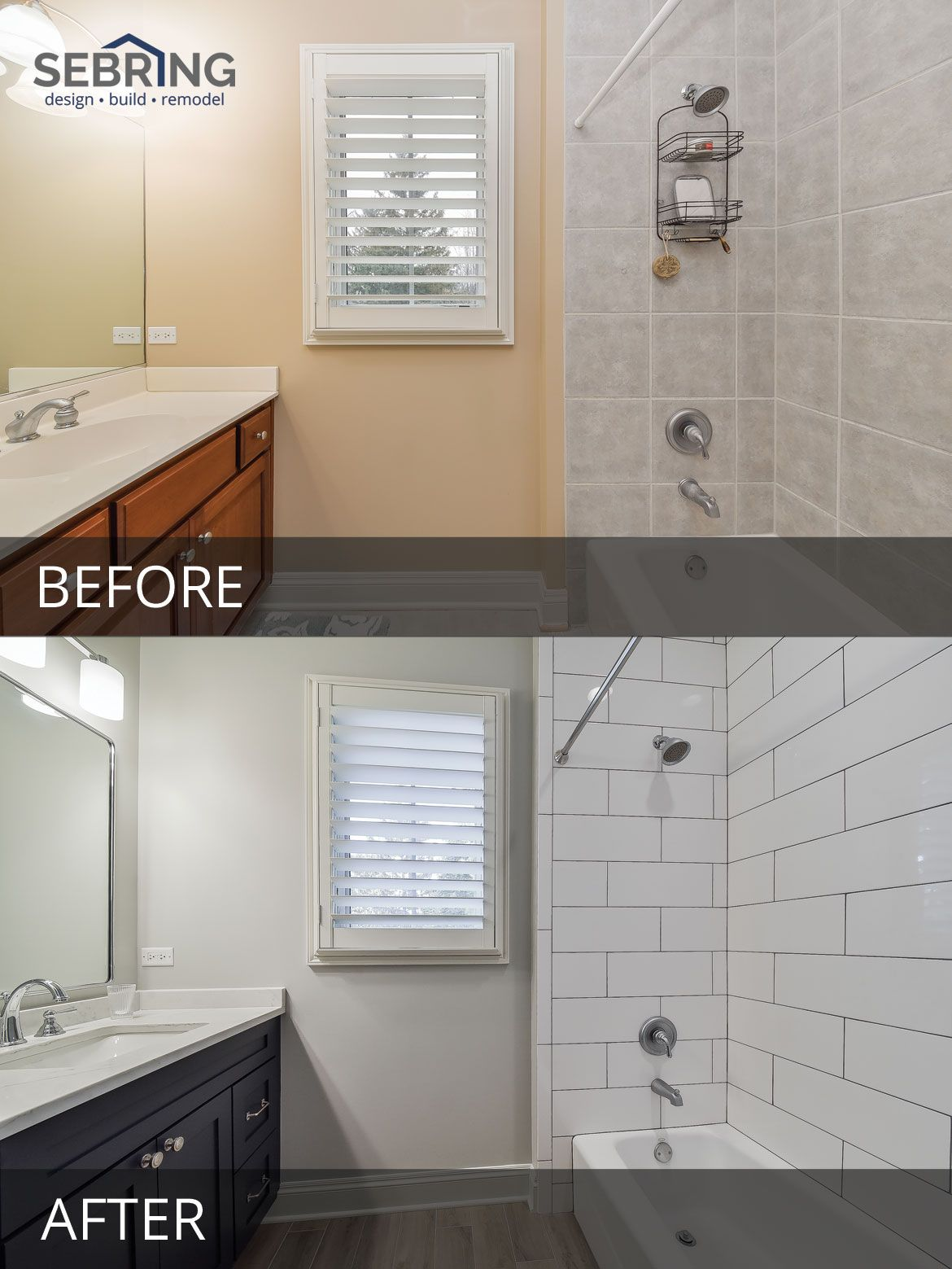 Rob Michelle S Whole House Before After Pictures Bathrooms