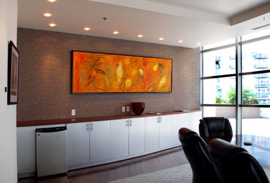 Built In Credenzas Sotheby Custom Conference Room