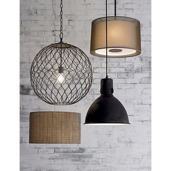 Hoyne Pendant Reviews Crate And Barrel Bronze Pendant Lamp