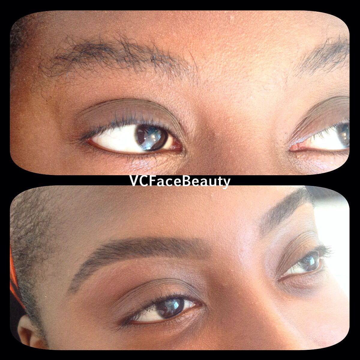 Before And After Brow Waxing And Tinting Make Up Brow