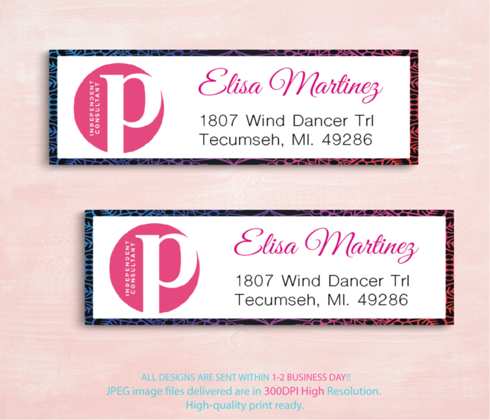 Personalized Perfectly Posh Return Labels Perfectly Posh Address Labels Perfectly Posh Independent Consultant New Logo Ps01 New Perfectly Posh Address Labels Business Card Size