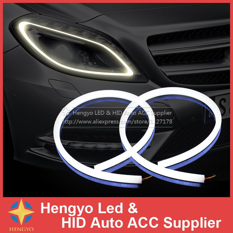 2x60cm white and yellow amber tube switchback headlight car led 2x60cm white and yellow amber tube switchback headlight car led strip for car light white to aloadofball Gallery