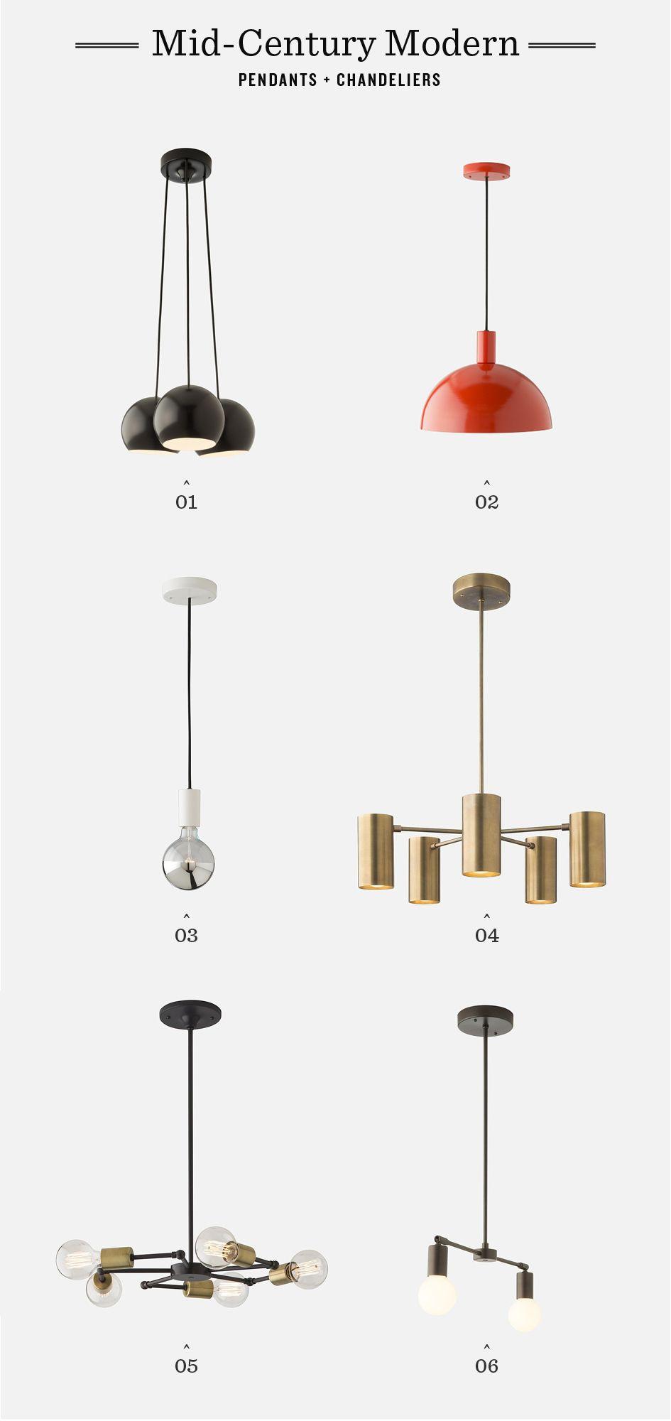 Midcentury modern pendants u chandeliers by schoolhouse electric