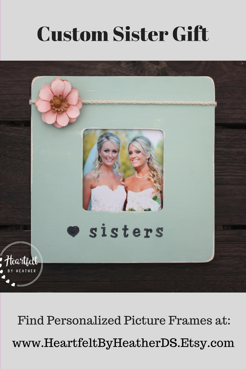 Sister Gift Personalized Picture Frame Personalized Sister Gift ...