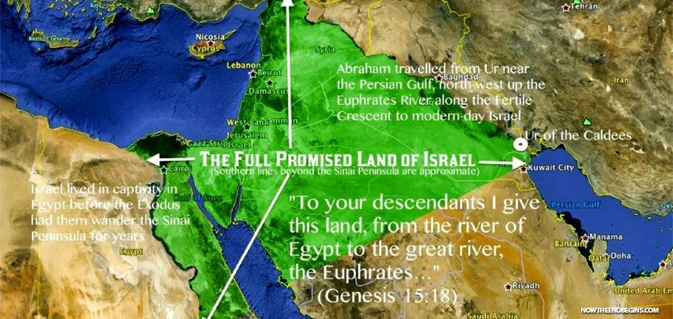 Image result for Map of land God gave to Abraham and his descendants