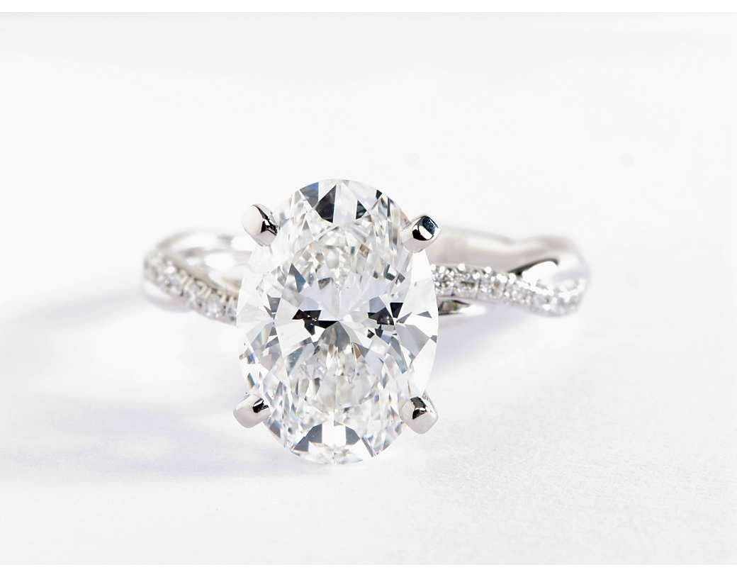 Classic sixprong solitaire engagement ring in platinum solitaire
