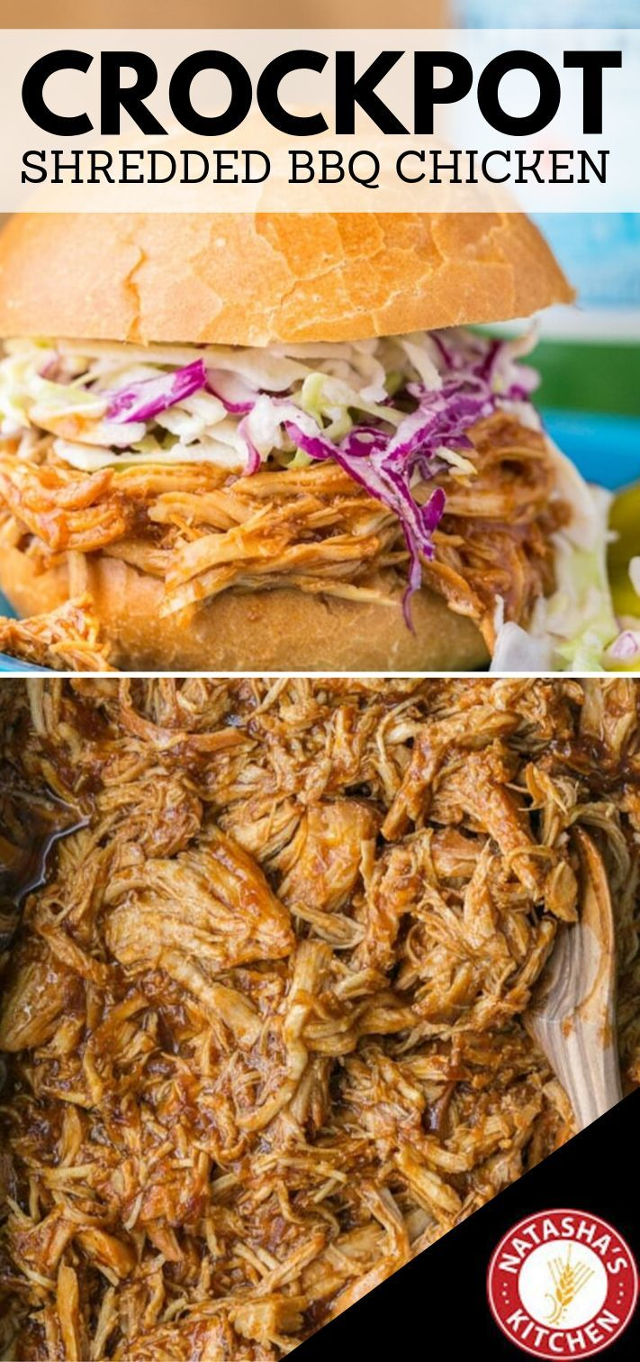 Crockpot BBQ Chicken – Bestes Slow Cooker Pulled Chicken!  – ONLY Favorite Recipes!