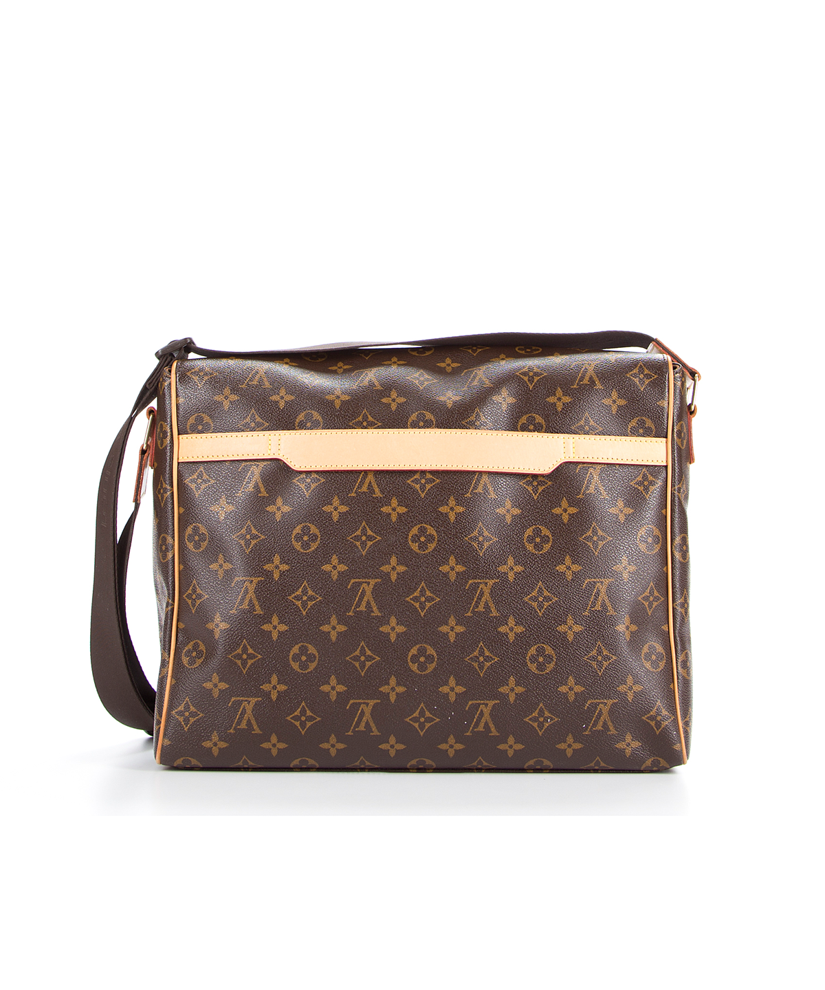 Louis Vuitton Pre Owned Monogram Canvas Abbesses Messenger Bag In Brown Modesens Louis Vuitton Monogram Canvas Pre Owned Louis Vuitton