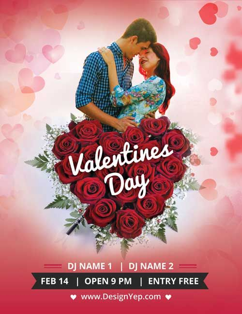 Valentines Day Party Free PSD Flyer Template - http\/\/freepsdflyer - harmony flyer template