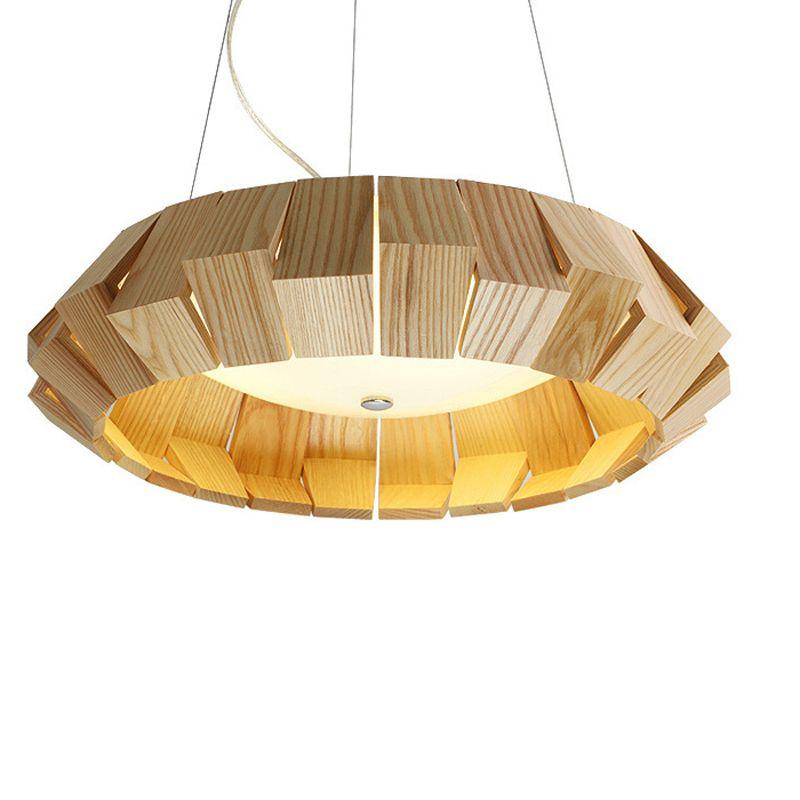 led hanglamp hout primaire kleuren houten hanger lampen voor thuis