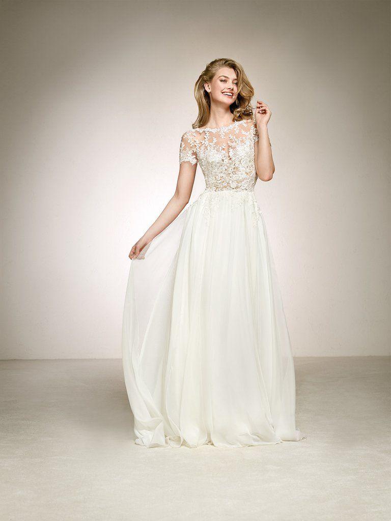 21920ac206 Pronovias  Diana  size 4 new wedding dress front view on model