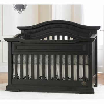 Bonavita Baby Furniture   Bonavita Belmont Collection Lifestyle Crib In  Distressed Black