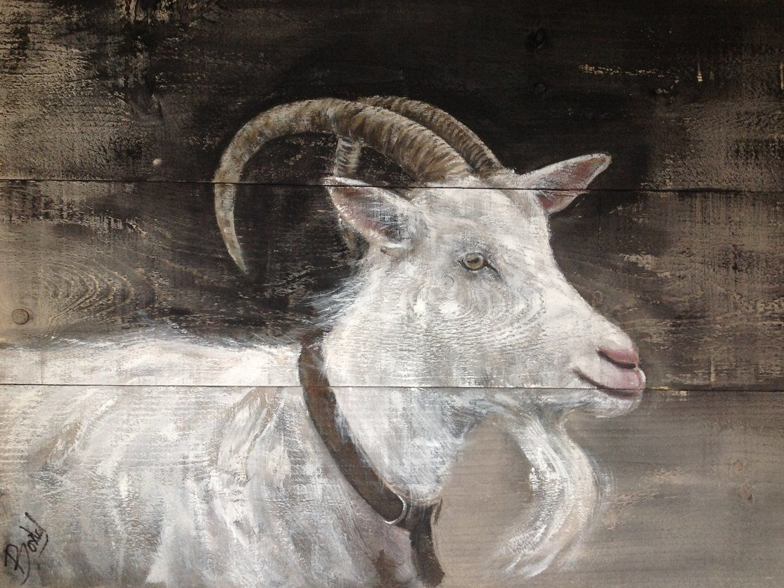 Schilderij op steigerhout schilderijen pinterest hout dieren en schilderijen - Schilderij van gang ...
