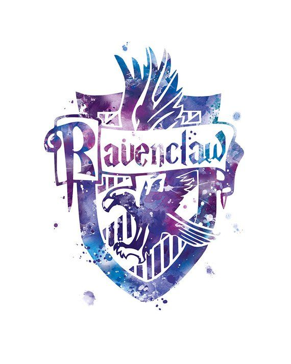 Playful image within ravenclaw crest printable