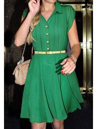 5ff5c41e6d1 Fashion Check Puff Sleeved Pleated Chiffon Dress