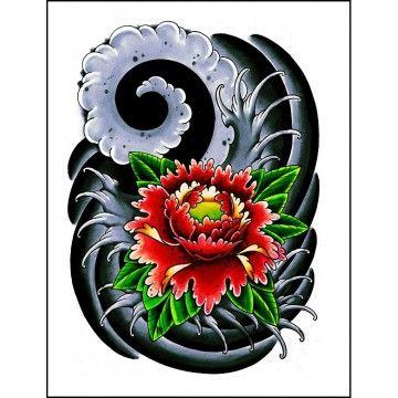 tatouage temporaire fleur de lotus japonaise tatouage japonais pinterest fleurs de lotus. Black Bedroom Furniture Sets. Home Design Ideas